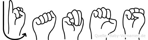 Janes in Fingersprache für Gehörlose