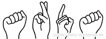 Arda in Fingersprache für Gehörlose