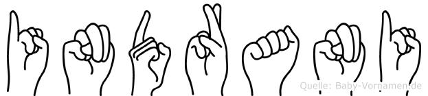 Indrani im Fingeralphabet der Deutschen Gebärdensprache