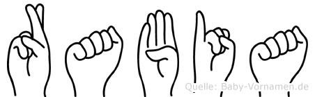 Rabia im Fingeralphabet der Deutschen Gebärdensprache
