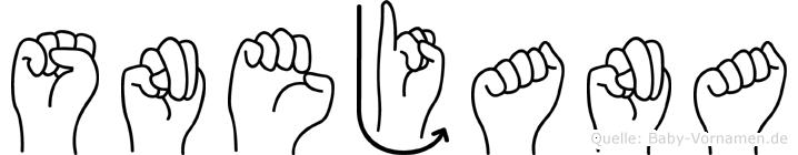 Snejana im Fingeralphabet der Deutschen Gebärdensprache