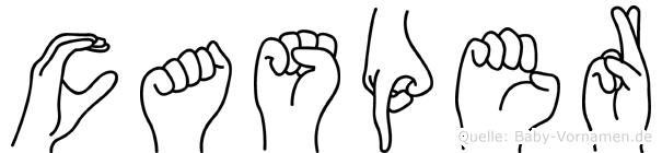 Casper in Fingersprache für Gehörlose