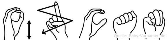 Özcan im Fingeralphabet der Deutschen Gebärdensprache