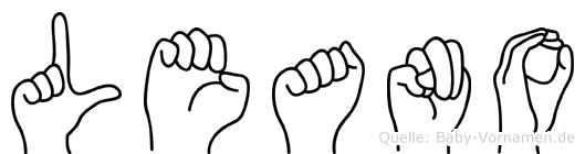 Leano im Fingeralphabet der Deutschen Gebärdensprache