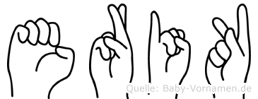 Erik in Fingersprache für Gehörlose