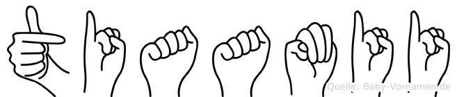 Tiaamii in Fingersprache für Gehörlose