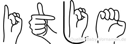Itje in Fingersprache für Gehörlose
