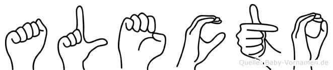 Alecto in Fingersprache für Gehörlose