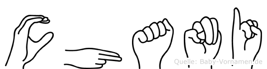 Chani im Fingeralphabet der Deutschen Gebärdensprache