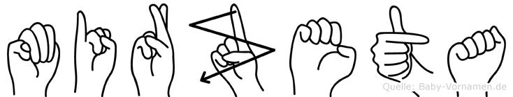 Mirzeta in Fingersprache für Gehörlose