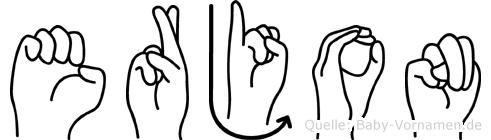 Erjon in Fingersprache für Gehörlose