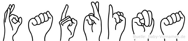 Fadrina im Fingeralphabet der Deutschen Gebärdensprache