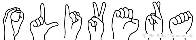 Olivera im Fingeralphabet der Deutschen Gebärdensprache