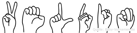 Veldin in Fingersprache für Gehörlose