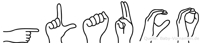 Glauco im Fingeralphabet der Deutschen Gebärdensprache