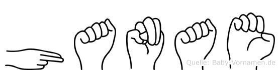 Hanae in Fingersprache für Gehörlose