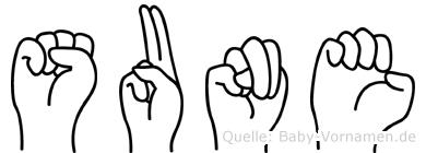 Sune in Fingersprache für Gehörlose