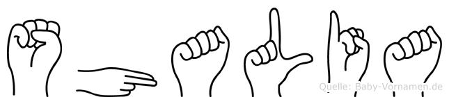 Shalia im Fingeralphabet der Deutschen Gebärdensprache