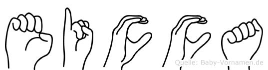 Eicca in Fingersprache für Gehörlose