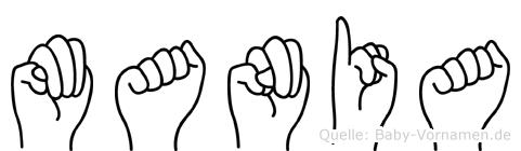 Mania in Fingersprache für Gehörlose
