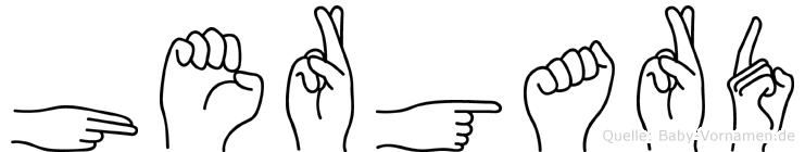 Hergard im Fingeralphabet der Deutschen Gebärdensprache