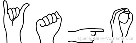 Yago im Fingeralphabet der Deutschen Gebärdensprache