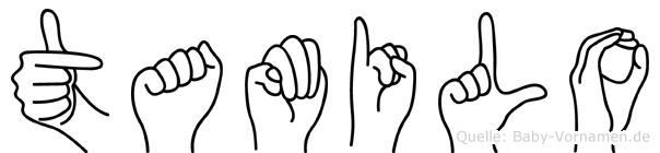 Tamilo in Fingersprache für Gehörlose