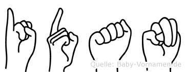 Idan in Fingersprache für Gehörlose
