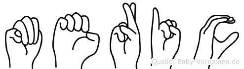 Meric im Fingeralphabet der Deutschen Gebärdensprache