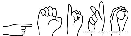 Geiko in Fingersprache für Gehörlose