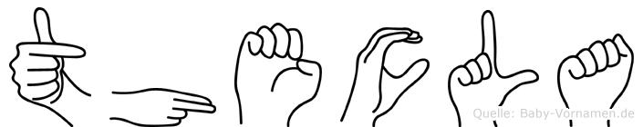 Thecla im Fingeralphabet der Deutschen Gebärdensprache