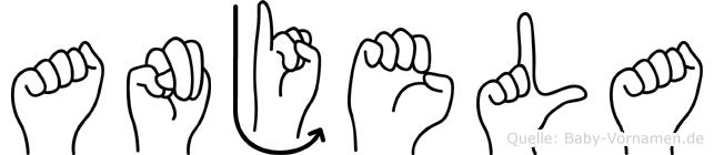 Anjela in Fingersprache für Gehörlose
