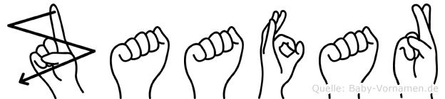 Zaafar im Fingeralphabet der Deutschen Gebärdensprache