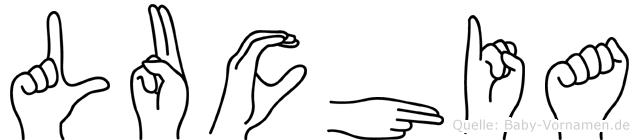Luchia in Fingersprache für Gehörlose