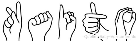 Kaito im Fingeralphabet der Deutschen Gebärdensprache