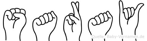 Saray in Fingersprache für Gehörlose