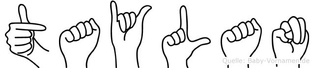 Taylan in Fingersprache für Gehörlose