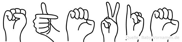 Stevie im Fingeralphabet der Deutschen Gebärdensprache