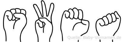 Swea in Fingersprache für Gehörlose