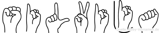 Silvija in Fingersprache für Gehörlose