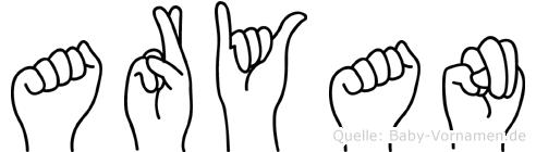 Aryan in Fingersprache für Gehörlose