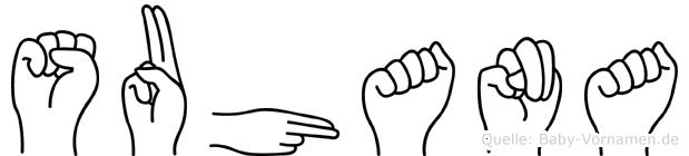 Suhana in Fingersprache für Gehörlose