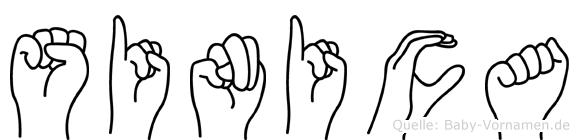 Sinica in Fingersprache für Gehörlose