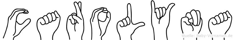 Carolyna in Fingersprache für Gehörlose