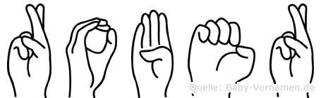 Rober im Fingeralphabet der Deutschen Gebärdensprache