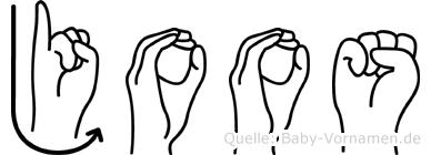 Joos in Fingersprache für Gehörlose