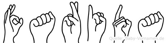 Farida in Fingersprache für Gehörlose