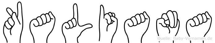 Kaliana in Fingersprache für Gehörlose