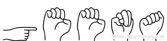 Geena im Fingeralphabet der Deutschen Gebärdensprache