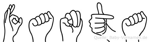 Fanta im Fingeralphabet der Deutschen Gebärdensprache